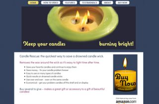 Candle Rescue – WordPress product website