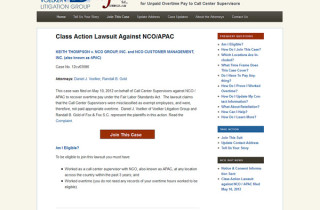 class action litigation website