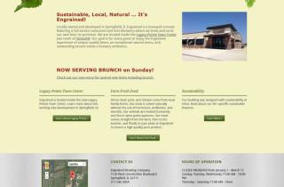 Engrained Brewing CMS homepage