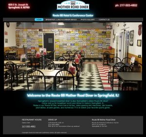 O3 Internet Consulting created the Route 66 Mother Road Diner Springfield IL WordPress website.
